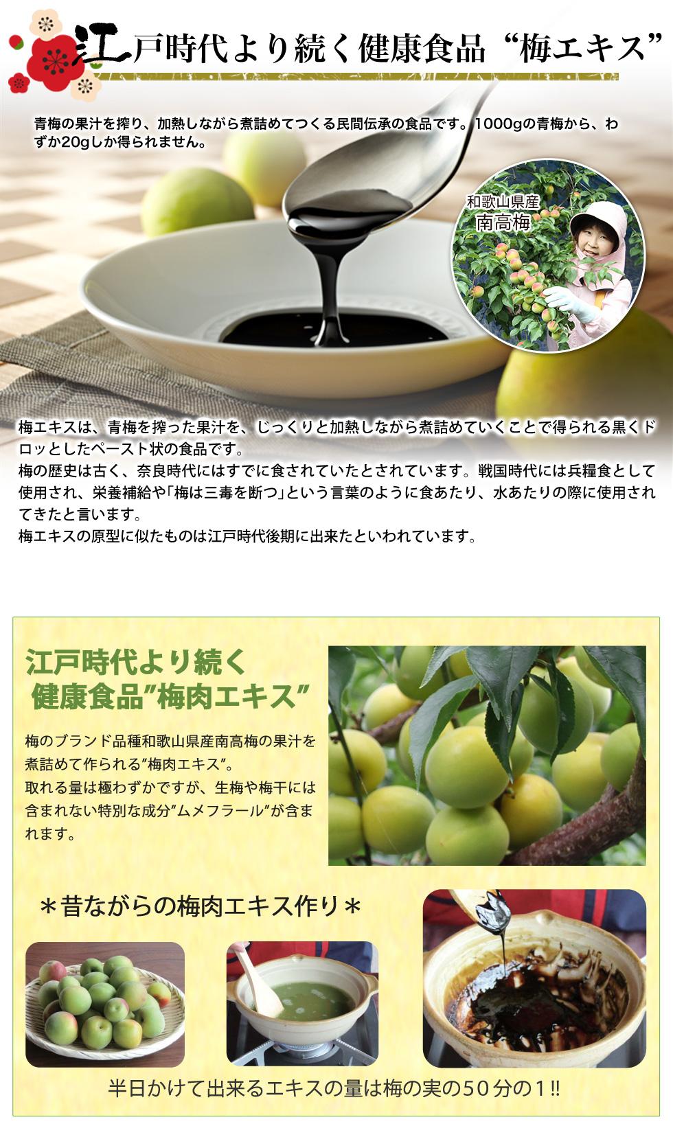 江戸時代より続く健康食品、それが梅エキス